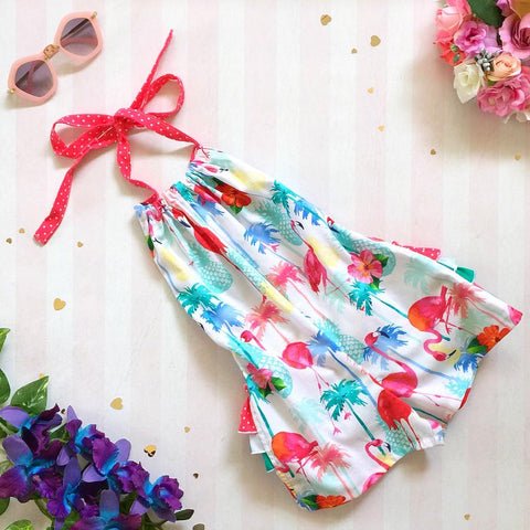 Flamingo Summertime 3frill Short-suit