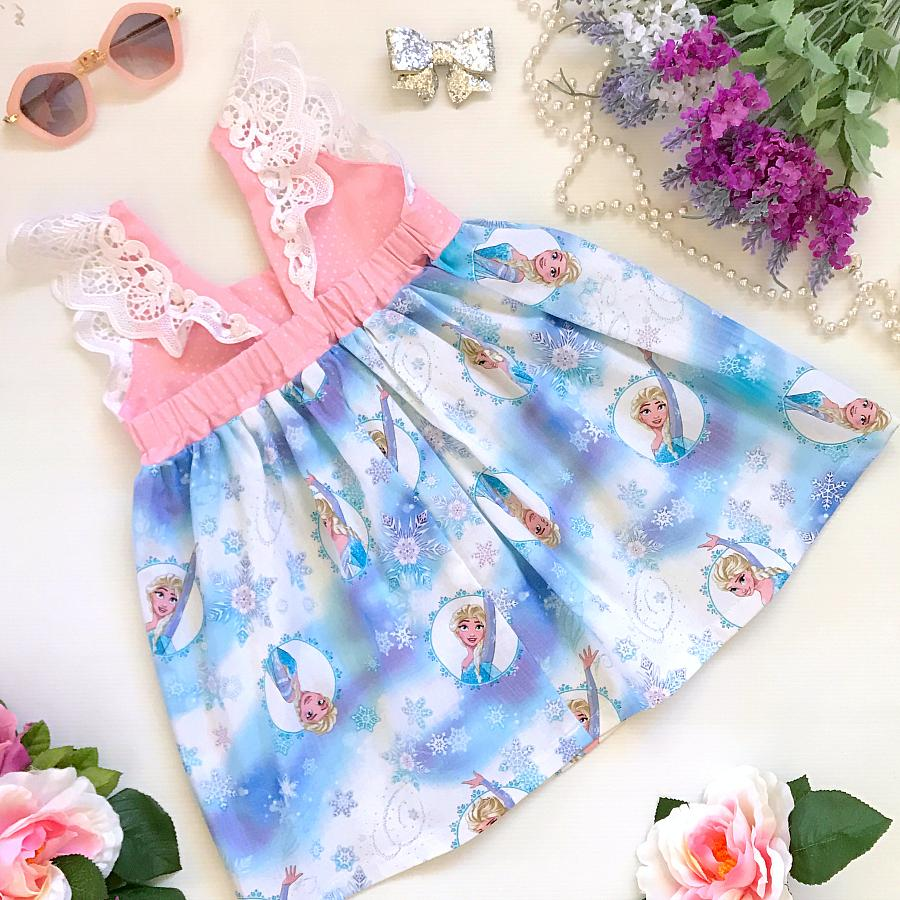 Frozen Sisters Hummingbird Dress