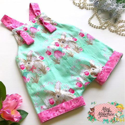 Cute as a Bunny Green Gypsy Romper - Pre Order