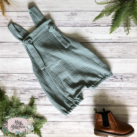 Green Double Gauze Boys Gypsy Romper