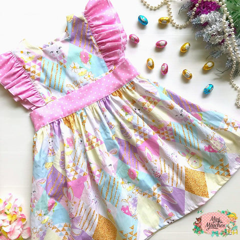 Happy Easter Bunnies Polly Dress - Pre Order