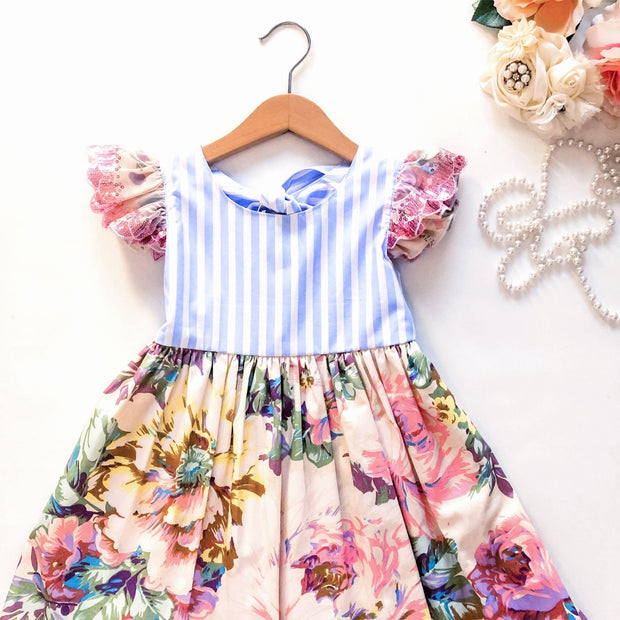 Ivy Dress - Harper  RE-STOCKED - Mini Mooches is an Australian owned business specialising in handmade clothing and accessories for girls aged between 1-10. Beautifully designed Floral Dresses, Peplum Tops, Suspender skirts and shorts. Special occasions to everyday wear.