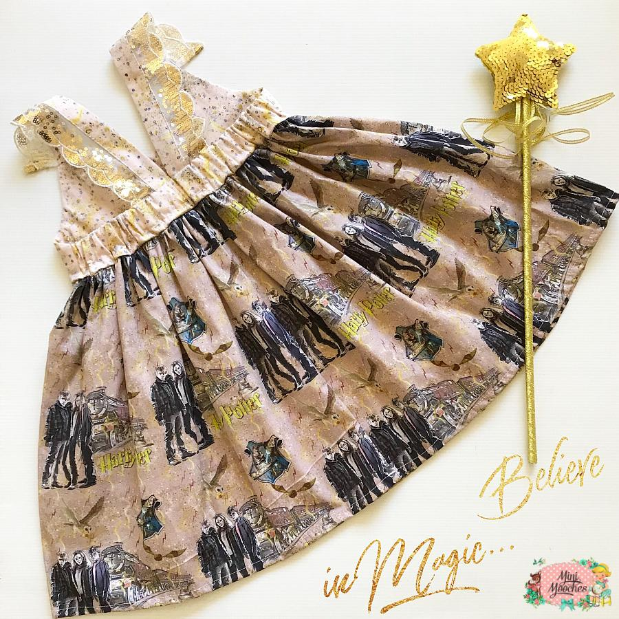Harry Potter Gold Hummingbird Dress