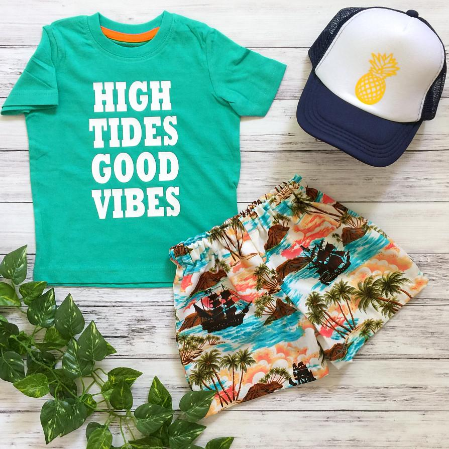 Good Vibes Boys Shorts & T-shirt Set