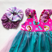 Hummingbird Dress - Princess - Mini Mooches is an Australian owned business specialising in handmade clothing and accessories for girls aged between 1-10. Beautifully designed Floral Dresses, Peplum Tops, Suspender skirts and shorts. Special occasions to everyday wear.