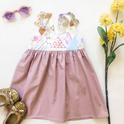 Hummingbird Dress - Claudia - Mini Mooches is an Australian owned business specialising in handmade clothing and accessories for girls aged between 1-10. Beautifully designed Floral Dresses, Peplum Tops, Suspender skirts and shorts. Special occasions to everyday wear.