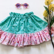 Twirly Skirt - Lulu - Mini Mooches is an Australian owned business specialising in handmade clothing and accessories for girls aged between 1-10. Beautifully designed Floral Dresses, Peplum Tops, Suspender skirts and shorts. Special occasions to everyday wear.