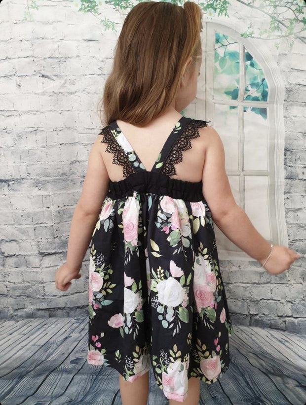 Hummingbird Dress - Courtney - Mini Mooches is an Australian owned business specialising in handmade clothing and accessories for girls aged between 1-10. Beautifully designed Floral Dresses, Peplum Tops, Suspender skirts and shorts. Special occasions to everyday wear.