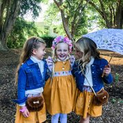 Pinafore Dress - Penny - Mini Mooches is an Australian owned business specialising in handmade clothing and accessories for girls aged between 1-10. Beautifully designed Floral Dresses, Peplum Tops, Suspender skirts and shorts. Special occasions to everyday wear.