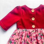 Tea Dress - Jude - Mini Mooches is an Australian owned business specialising in handmade clothing and accessories for girls aged between 1-10. Beautifully designed Floral Dresses, Peplum Tops, Suspender skirts and shorts. Special occasions to everyday wear.