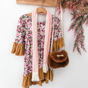 Mini Scarf - Mini Mooches is an Australian owned business specialising in handmade clothing and accessories for girls aged between 1-10. Beautifully designed Floral Dresses, Peplum Tops, Suspender skirts and shorts. Special occasions to everyday wear.