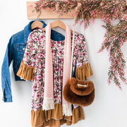 Boho Dress - Bailey - Mini Mooches is an Australian owned business specialising in handmade clothing and accessories for girls aged between 1-10. Beautifully designed Floral Dresses, Peplum Tops, Suspender skirts and shorts. Special occasions to everyday wear.