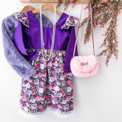 Tea Dress - Ava Winter - Mini Mooches is an Australian owned business specialising in handmade clothing and accessories for girls aged between 1-10. Beautifully designed Floral Dresses, Peplum Tops, Suspender skirts and shorts. Special occasions to everyday wear.