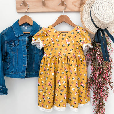 Tea Dress - Katrina - Mini Mooches is an Australian owned business specialising in handmade clothing and accessories for girls aged between 1-10. Beautifully designed Floral Dresses, Peplum Tops, Suspender skirts and shorts. Special occasions to everyday wear.