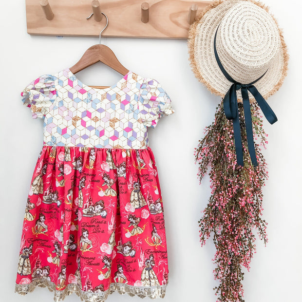 Bella Tea Dress - Mini Mooches is an Australian owned business specialising in handmade clothing and accessories for girls aged between 1-10. Beautifully designed Floral Dresses, Peplum Tops, Suspender skirts and shorts. Special occasions to everyday wear.