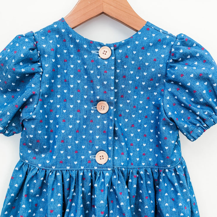 Puffed Sleeve Tea Dress - Jenny - Mini Mooches is an Australian owned business specialising in handmade clothing and accessories for girls aged between 1-10. Beautifully designed Floral Dresses, Peplum Tops, Suspender skirts and shorts. Special occasions to everyday wear.