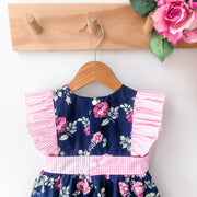 Pinafore Dress - Madison - Mini Mooches is an Australian owned business specialising in handmade clothing and accessories for girls aged between 1-10. Beautifully designed Floral Dresses, Peplum Tops, Suspender skirts and shorts. Special occasions to everyday wear.