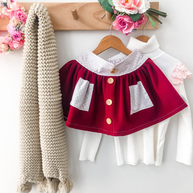 Twirly Skirt - Aubry - Mini Mooches is an Australian owned business specialising in handmade clothing and accessories for girls aged between 1-10. Beautifully designed Floral Dresses, Peplum Tops, Suspender skirts and shorts. Special occasions to everyday wear.