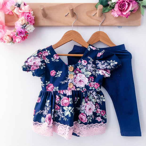 Peplum Top - Madison - Mini Mooches is an Australian owned business specialising in handmade clothing and accessories for girls aged between 1-10. Beautifully designed Floral Dresses, Peplum Tops, Suspender skirts and shorts. Special occasions to everyday wear.