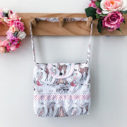 Mini Handbag - Woodland Friends - Mini Mooches is an Australian owned business specialising in handmade clothing and accessories for girls aged between 1-10. Beautifully designed Floral Dresses, Peplum Tops, Suspender skirts and shorts. Special occasions to everyday wear.