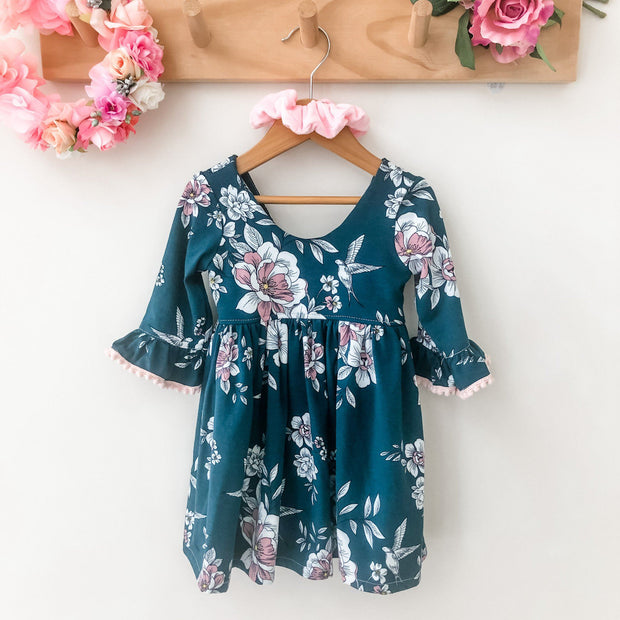 Tea Dress - Natalie (LIMITED FABRIC) - Mini Mooches is an Australian owned business specialising in handmade clothing and accessories for girls aged between 1-10. Beautifully designed Floral Dresses, Peplum Tops, Suspender skirts and shorts. Special occasions to everyday wear.