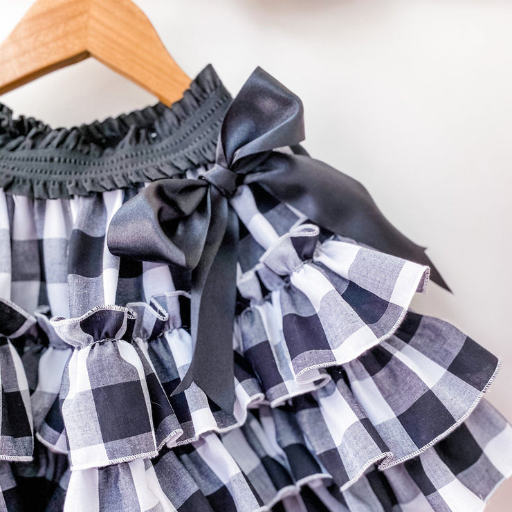 Ruffle Skirt - Gingham - In stock