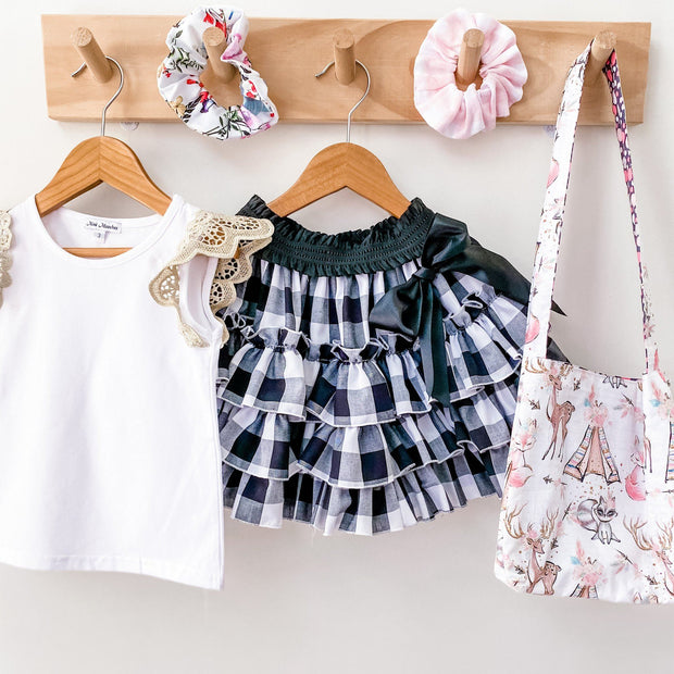 MM Lace Flutter Singlet - Mini Mooches is an Australian owned business specialising in handmade clothing and accessories for girls aged between 1-10. Beautifully designed Floral Dresses, Peplum Tops, Suspender skirts and shorts. Special occasions to everyday wear.