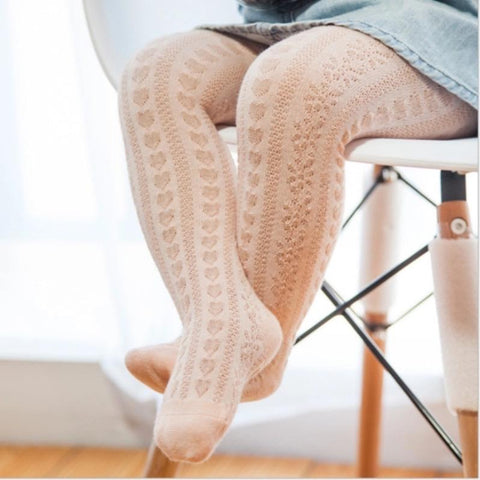 Peach Cotton Leggings/ Stockings