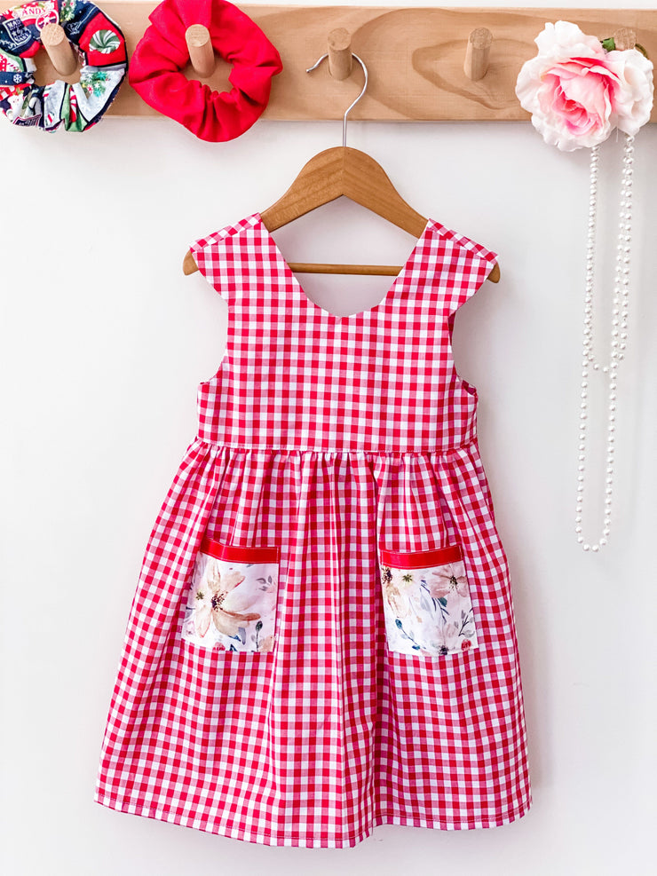 Christmas Tea Dress - Gingham