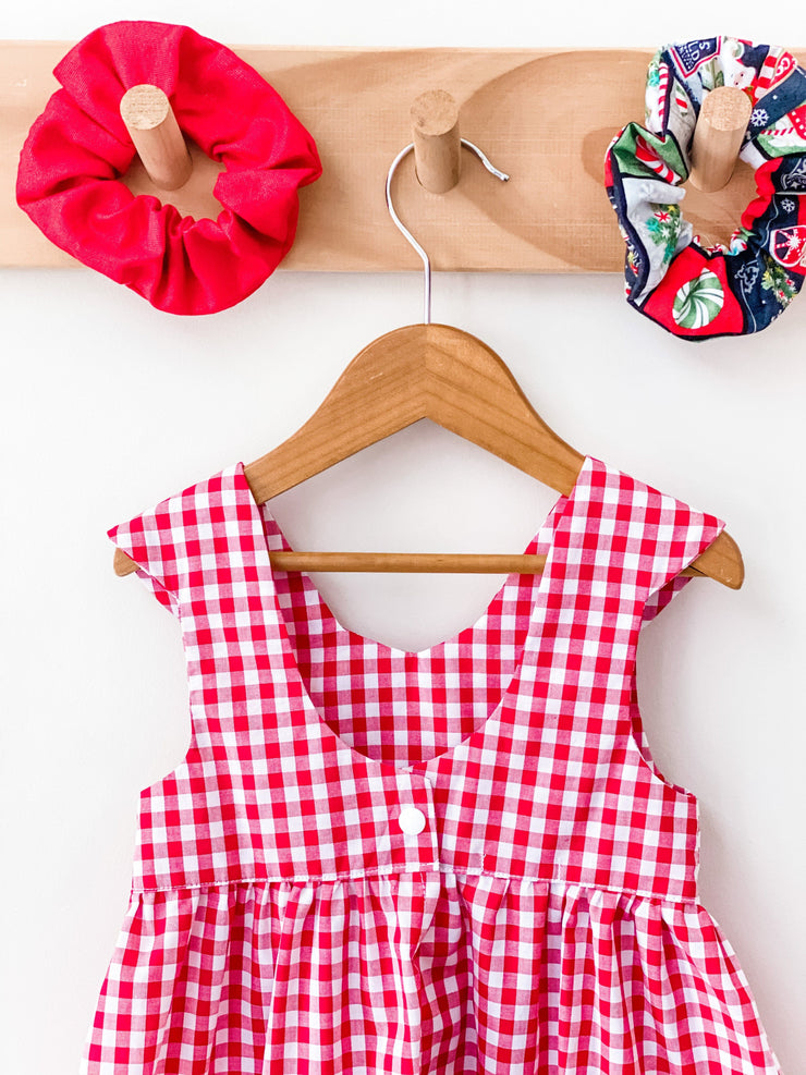 Christmas Tea Dress - Gingham- In stock