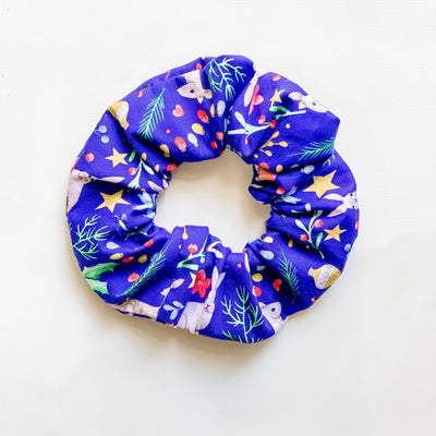 Scrunchies - Christmas Navy Reindeer