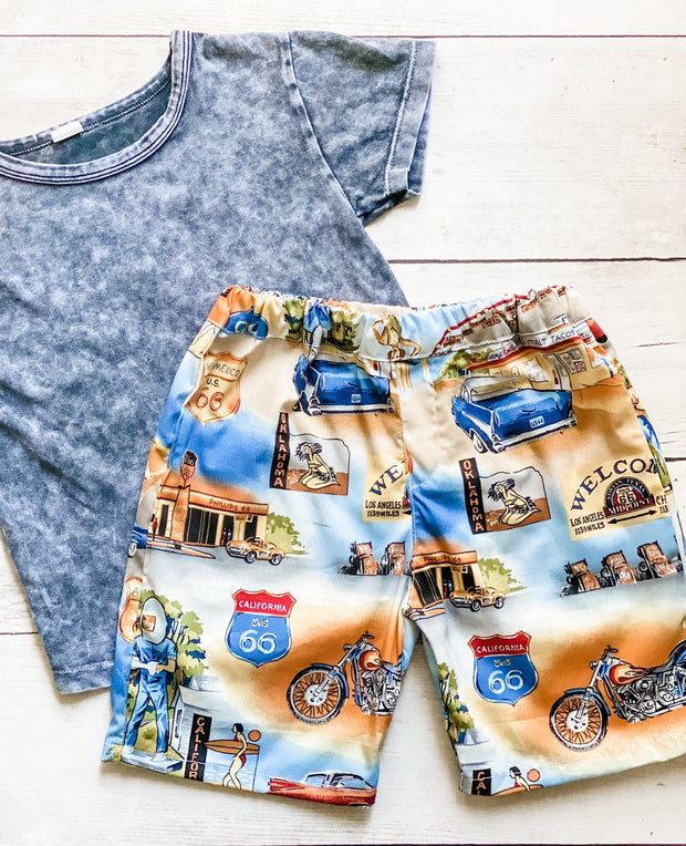Boys Shorts - Route 66