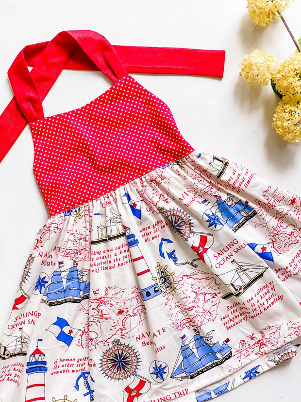 Twirly Dress - Sailor