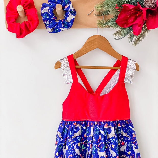 Christmas Hummingbird Dress - Mary