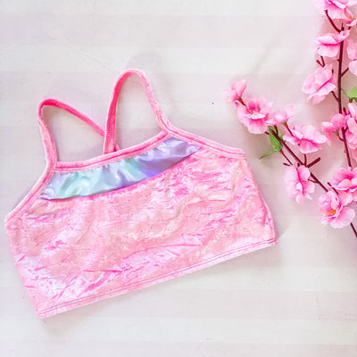 Crop Top - Pink velvet - In stock