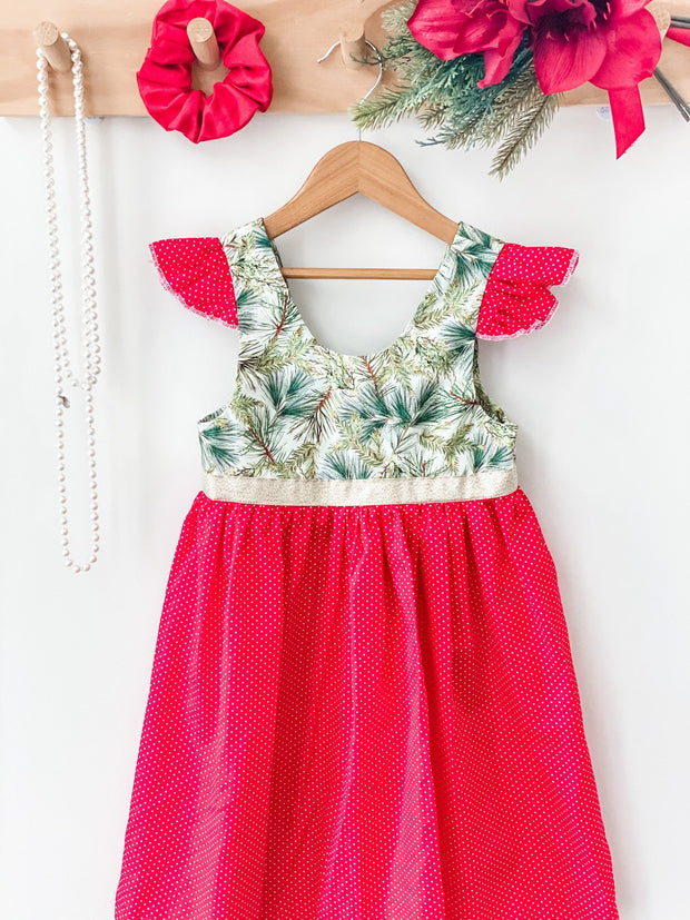Christmas Tea Dress - Pine Tree