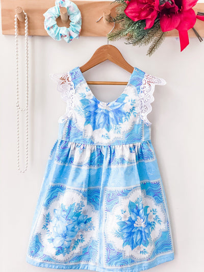 Christmas Tea Dress - Snow