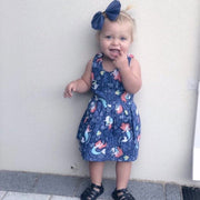 Summer Dress - Ariel - Mini Mooches is an Australian owned business specialising in handmade clothing and accessories for girls aged between 1-10. Beautifully designed Floral Dresses, Peplum Tops, Suspender skirts and shorts. Special occasions to everyday wear.