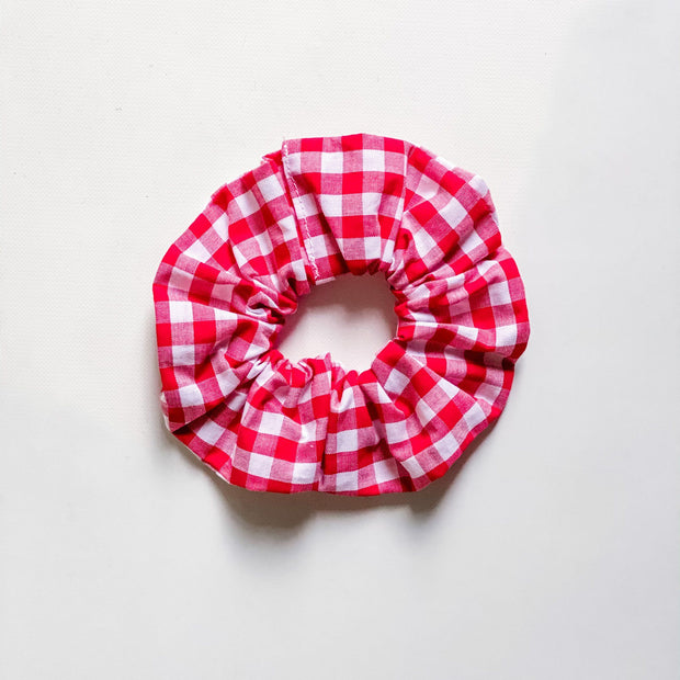 Scrunchies - Christmas Gingham