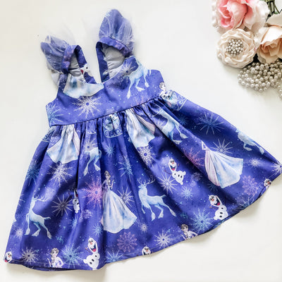 Anna Hummingbird Dress (frozen) - Limited Design