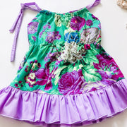 Weekend Dress - Esme - Mini Mooches is an Australian owned business specialising in handmade clothing and accessories for girls aged between 1-10. Beautifully designed Floral Dresses, Peplum Tops, Suspender skirts and shorts. Special occasions to everyday wear.