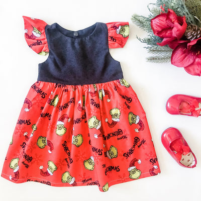 Grinch Christmas Tea Dress