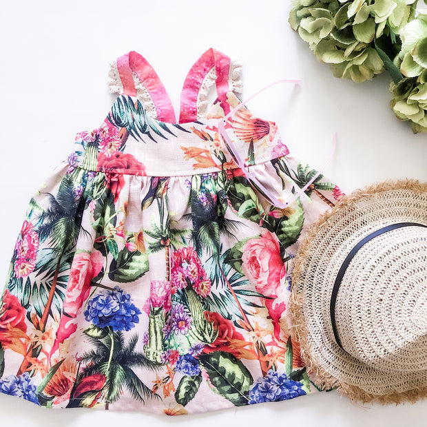 Layla Hummingbird Dress - Summer in the Bahamas