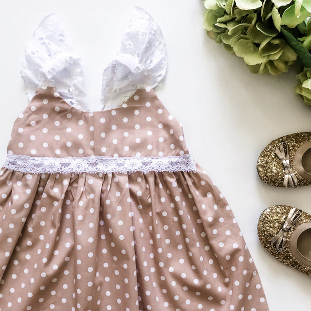 Lucy Hummingbird Dress - Mini Mooches is an Australian owned business specialising in handmade clothing and accessories for girls aged between 1-10. Beautifully designed Floral Dresses, Peplum Tops, Suspender skirts and shorts. Special occasions to everyday wear.