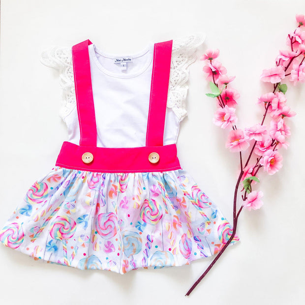 Candy Suspender Skirt