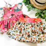 Alani Twirly Skirt - Mini Mooches is an Australian owned business specialising in handmade clothing and accessories for girls aged between 1-10. Beautifully designed Floral Dresses, Peplum Tops, Suspender skirts and shorts. Special occasions to everyday wear.