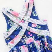 Summer Dress - Anastasia - Mini Mooches is an Australian owned business specialising in handmade clothing and accessories for girls aged between 1-10. Beautifully designed Floral Dresses, Peplum Tops, Suspender skirts and shorts. Special occasions to everyday wear.