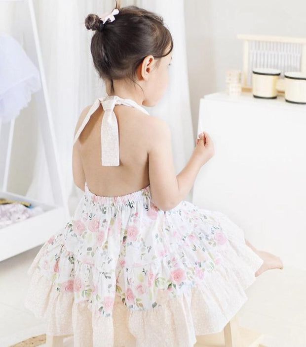 Twirly Dress - Katie - Mini Mooches is an Australian owned business specialising in handmade clothing and accessories for girls aged between 1-10. Beautifully designed Floral Dresses, Peplum Tops, Suspender skirts and shorts. Special occasions to everyday wear.