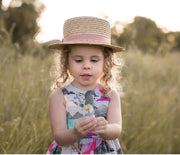 Peplum Set - Isla - Mini Mooches is an Australian owned business specialising in handmade clothing and accessories for girls aged between 1-10. Beautifully designed Floral Dresses, Peplum Tops, Suspender skirts and shorts. Special occasions to everyday wear.