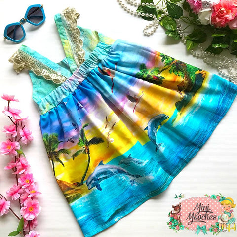 Island Vibes Hummingbird Dress